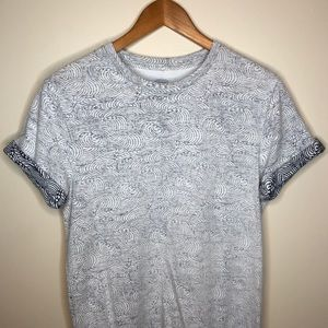 Old Navy Navy Waves T-Shirt